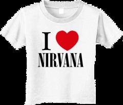 Nirvana stoer kinder T-shirt - I love Nirvana (Clothing)