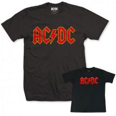 Duo Rockset AC/DC papa t-shirt & baby t-shirt Colour
