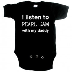 rock baby romper I listen to Pearl Jam with my daddy