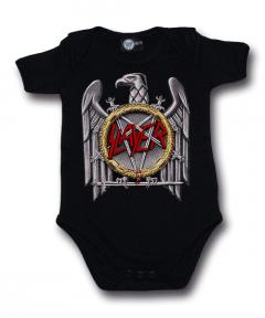 Slayer Rompertje Silver Eagle baby metal rompertjes | Littlerockstore