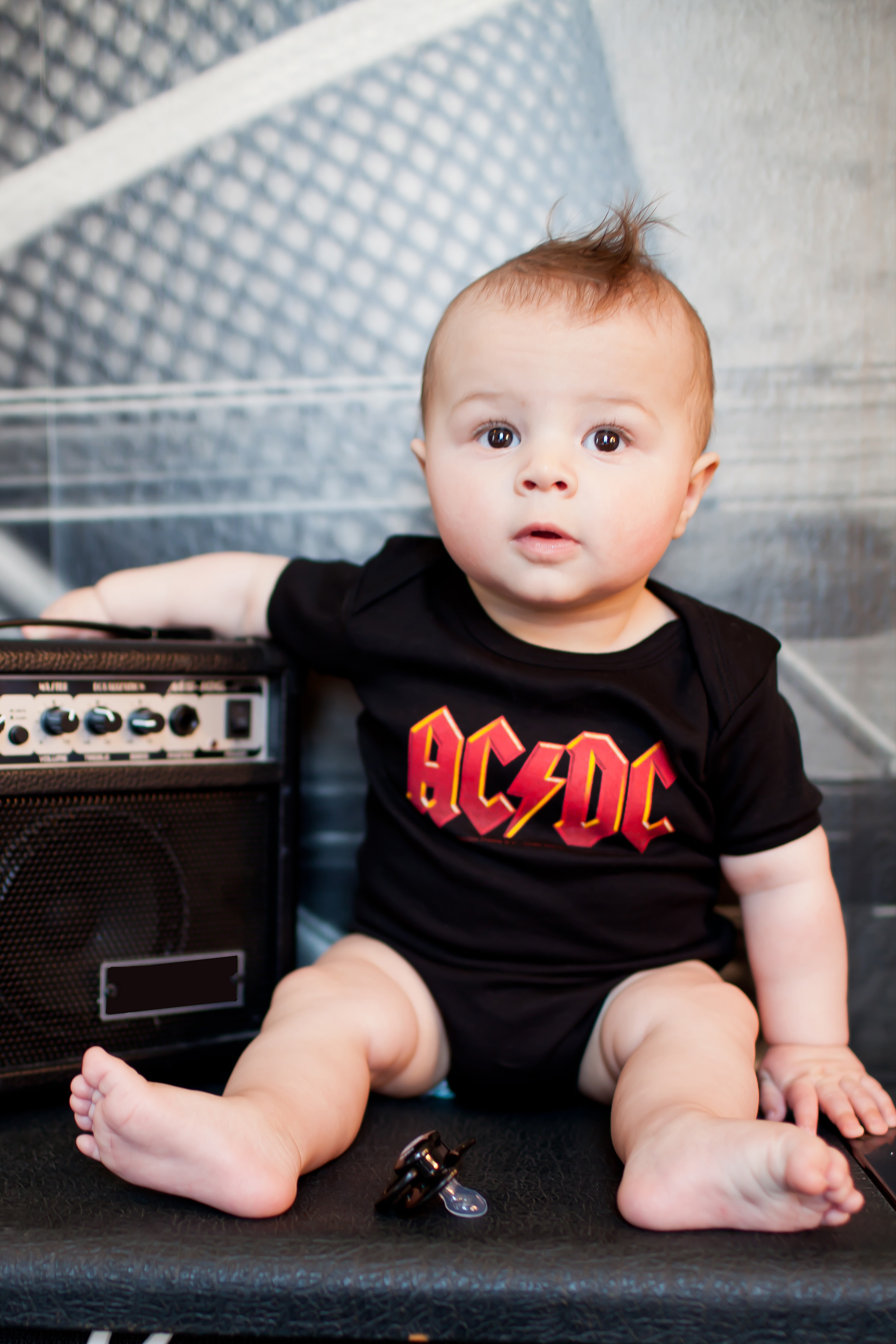 AC/DC Romper Littlerockstore