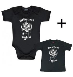 Cadeauset Motörhead Baby romper England & Motörhead Baby t-shirt England