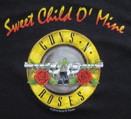 Guns and Roses baby romper Bullet back