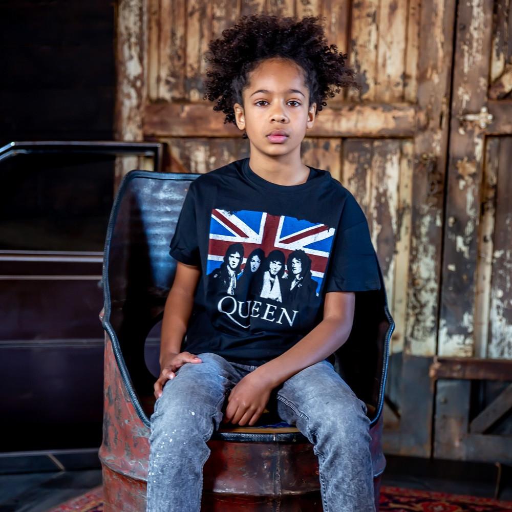 Queen Kids T-shirt England Flag fotoshoot