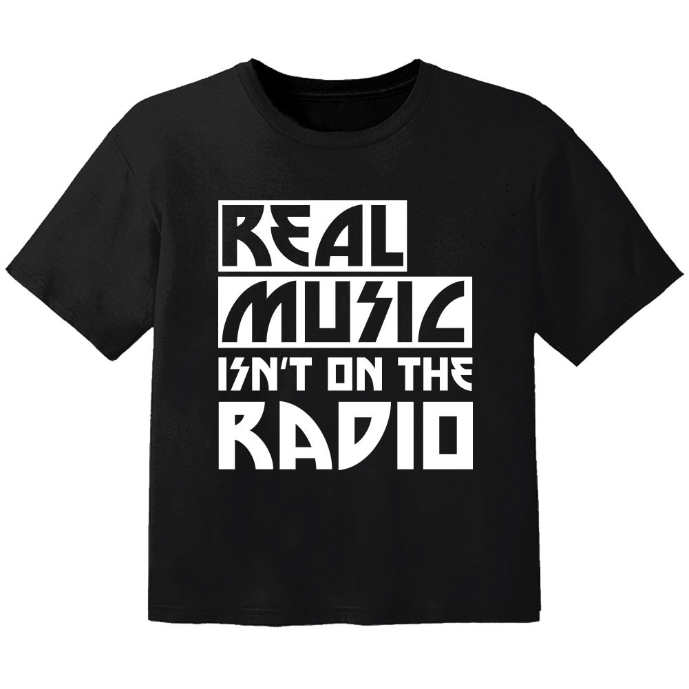 stoer baby t-shirt real music isnt on the radio