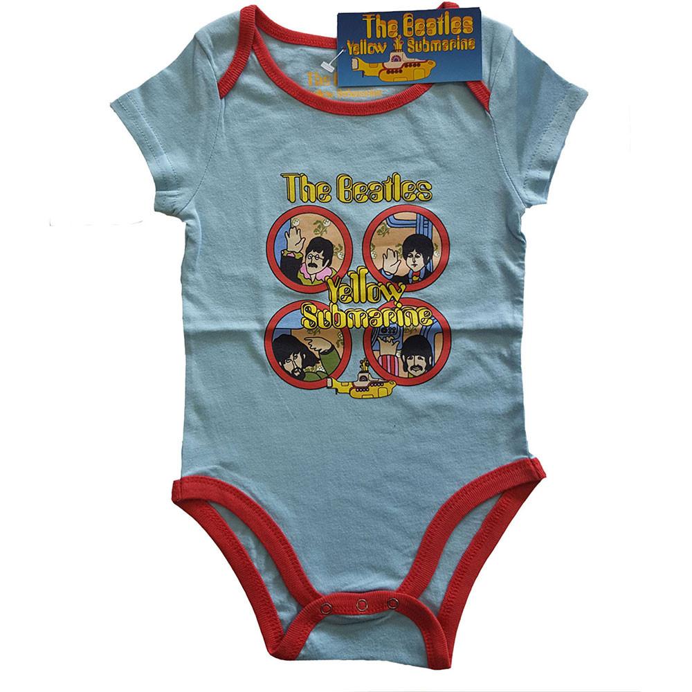 The Beatles Yellow Submarine two-tone baby romper