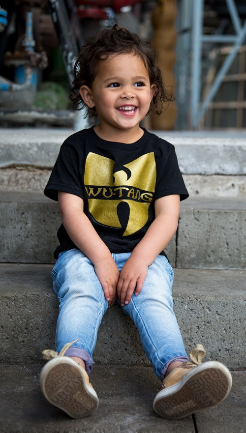 Wu-tang Clan kinder T-shirt Logo fotoshoot