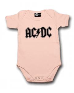 AC/DC Romper Logo Pink – metal rompers