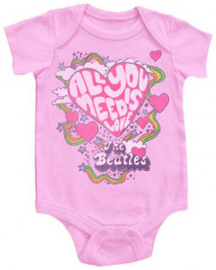 Beatles romper baby All You Need Is Love Pink