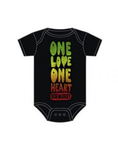 Bob Marley romper baby One Love One Heart