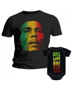 Duo Rockset Bob Marley papa t-shirt & Bob Marley romper
