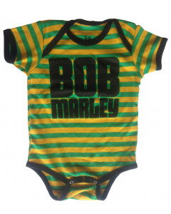 Bob Marley baby romper Jamaica Stripe