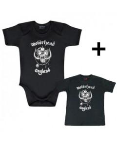 Set Mötorhead romper baby England & Baby shirt England