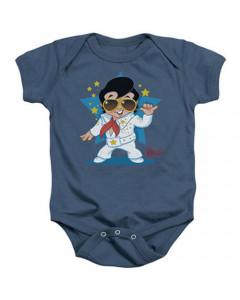 Elvis baby romper Singing Blue