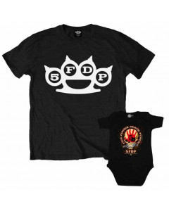Duo set Five Finger Death Punch papa t-shirt & romper