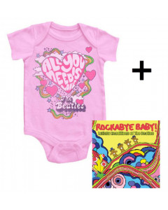 Set Beatles Romper All You Need Is Love & Beatles cd
