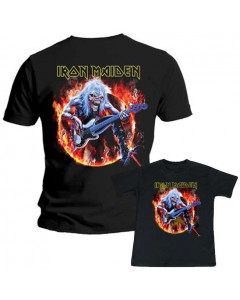 Set Iron Maiden papa shirt & Iron Maiden kinder t-shirt