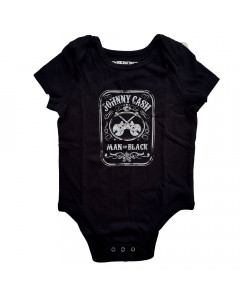 Johnny Cash romper baby Man in black