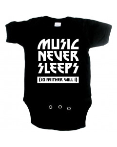 stoere baby romper music never sleeps so neither will I