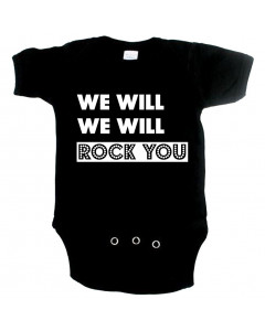 stoere baby romper we will rock you