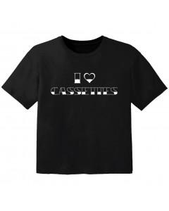 stoer baby t-shirt I love cassetes
