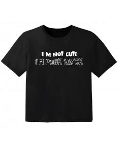 rock baby t-shirt im not cute im punk rock
