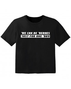 stoer baby t-shirt we can be heroes just for one day