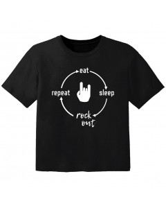 rock baby t-shirt eat sleep rock out repeat