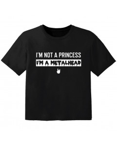 metal kids t-shirt I'm not a princess I'm a metalhead
