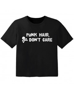 punk kids t-shirt punk hair don't care