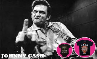 Johnny Cash rock baby kleding