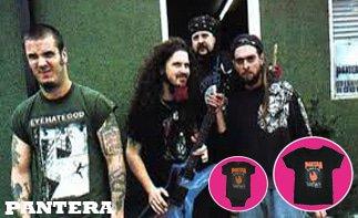 Pantera rock baby kleding